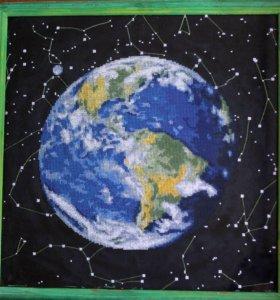 Вышивка крестиком Картина вышивкой «Земля»