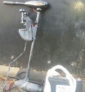 Лодочный электромотор аккамулятор120 тяговый