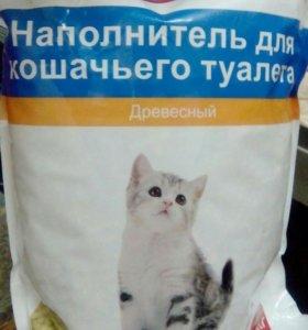 Наполнитель для кошачьего туалета древесной