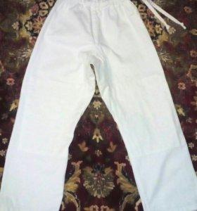 Штаны для тхэквондо.НОВЫЕ.130-140рост
