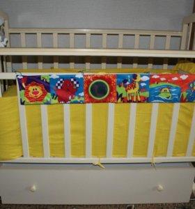 Кроватка+балдахин,борта,матрац,игрушки в кроватку