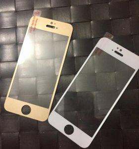 Защитное стекло iPhone 5, 5s