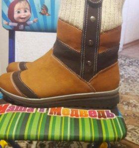 Зимние ботиночки натур.замша и мех.