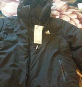 Куртка зимняя адидас новая. Мужская