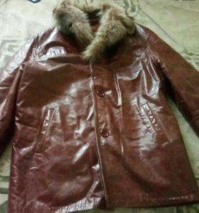 Куртка мужская зимняя кожа