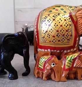 """Сувениры """"Индийские слоны"""" (ГОА)"""