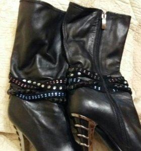 Сапоги кожаные размер 35