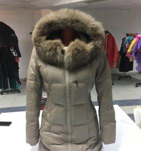 Куртка зима ЭКО-кожа натуральный мех