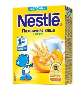 Каша Nestle молочная пшеничная с тыквой, 220 гр