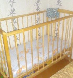 Кровать детская +матрас