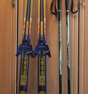 Беговые лыжи с палками