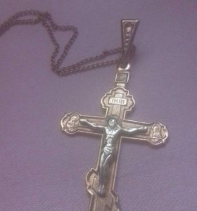 Цепочка и крестик 585