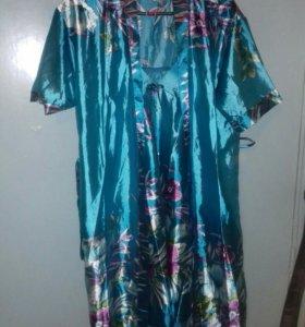 Комплект сорочка и халатик