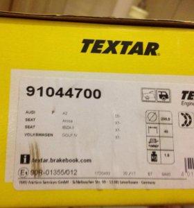 Колодки тормозные барабанные TEXTAR 91044700