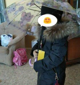 Куртка пуховик на девочку