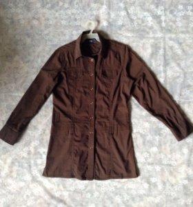 Рубашка стрейч,разм.46-48,удлиненная