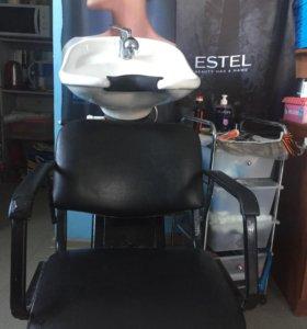 Мойка парикмахерская, два кресла