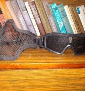 Страйкбольные очки и маска
