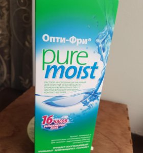 Опти-фри pure moist раствор для линз