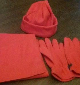 Комплект: шапка,шарф,перчатки