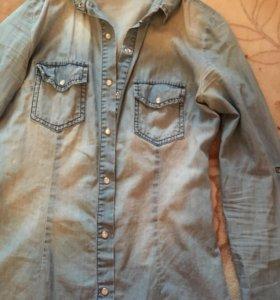 Джинсовая рубашка, блузка