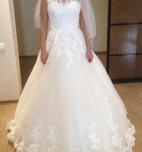 Срочно свадебное платье мечты А-силуэт😍Аксессуары