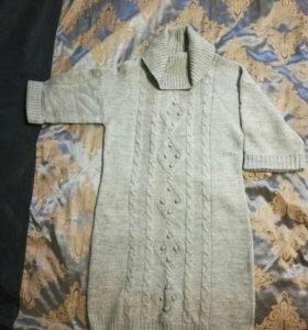 Шерстяное платье размерL