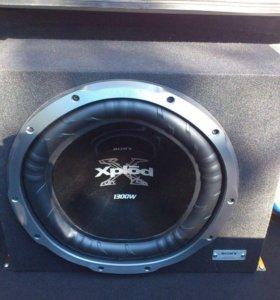 Сабвуфер Sony xplod 1300