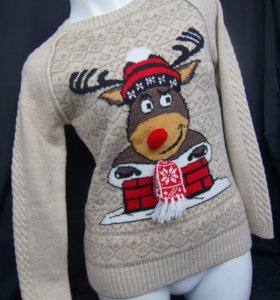 Новый ! Новогодний свитер с оленем!
