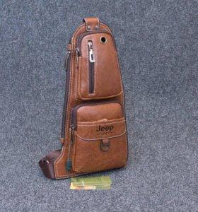 Jeep - мужская кожаная сумка