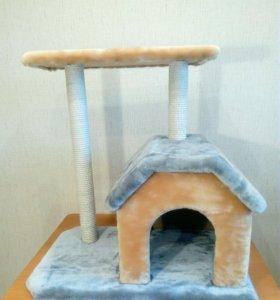 Новый домик - когтеточка для кошки