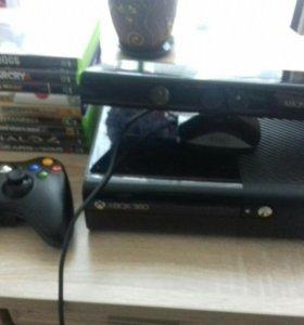 Xbox 360 + 8 игр + 3 гейпада + Kinect.
