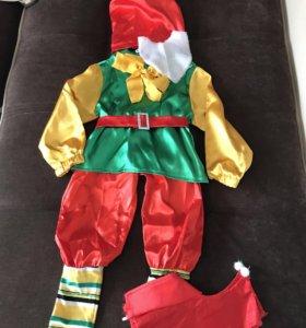 Новогодний костюм петрушка + гном.