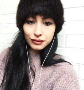 Норковая шапка с ушками