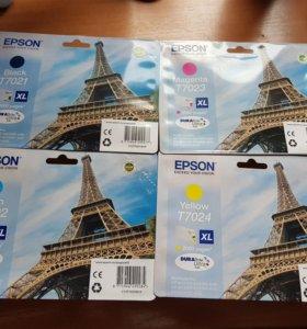Epson картриджи T7021 T7022 T7023 T7024