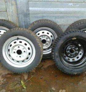 5 колес R13 155/65