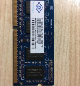 NANYA 1GB PC3. NT1GC64BH8A1PS-BE 0843.TW
