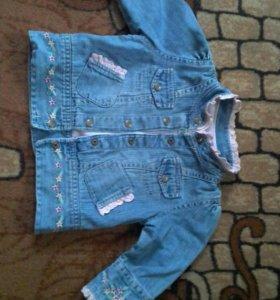 джинсовка детская р-р75-80