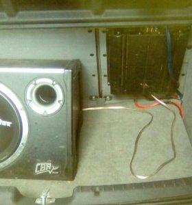 Комплект(савбуфер,усилитель,провода)