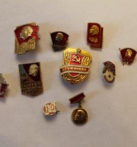 Значки на тему советского союза