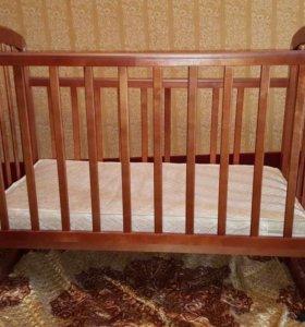Детская кроватка, бортики, матрас