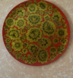 Панно тарелка хохломская роспись