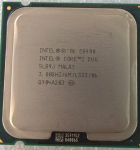 Intel Core 2 Duo E8400 Wolfdale Б/У