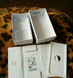 Коробка Iphone 5s gold