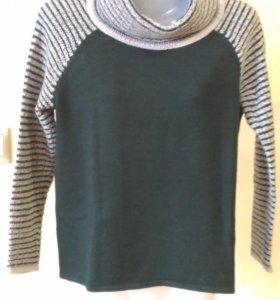 Женский джемпер-пуловер 46-48р, темно-зеленый