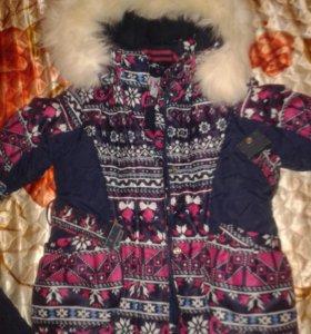 Зимний костюм на девочку 3-4 года
