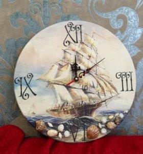 "Часы ""Мечта под парусами"", диаметр 30 см"