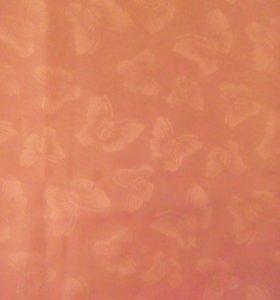 2 шторы розовая вуаль