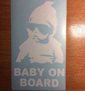 Наклейка на авто Ребенок в машине