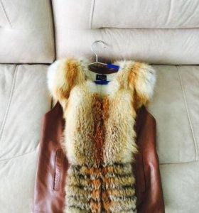 Продам жилет из меха лисы в отличном состоянии!!!